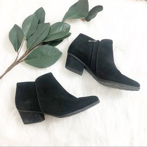 Blondo | Black Suede Ankle Boot
